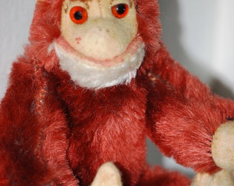 Vintage Mohair Posable Monkey