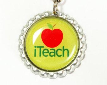 iTeach, Teacher Bookmark, bookmark, book mark, Shepherd Hook, gift for teacher (2475)