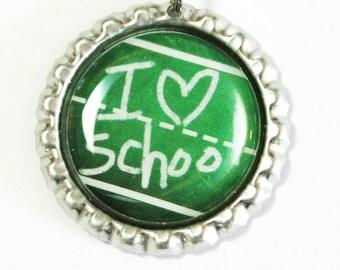 I Love School, Teacher Bookmark, bookmark, book mark, Shepherd Hook, gift for teacher (2476)