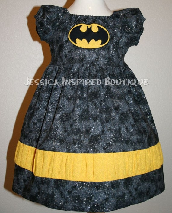 Batgirl Dress - Batman & Robin Inspired Dress Size 5 6 7 8   -    Jessica Inspired Boutique