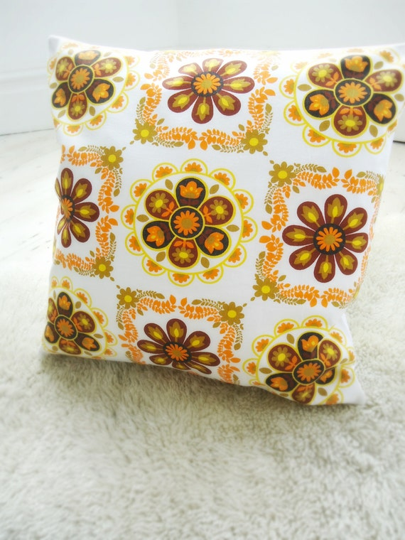 large vintage fabric cushion cover