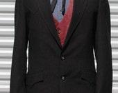 40 Mens Vintage Western Pinstripe Jacket
