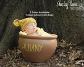 Pooh / Yellow Bear Baby Hat with 2 Color Options - Made to Order
