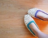 Crochet Slippers - Pop of Color