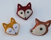 Forest Critters- Brooch -Fox -Fawn Woodland Accessories