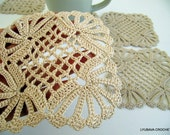 CROCHET COASTER PATTERN Shabby Chic Decor, Crochet Home Decor, Crochet Gifts, Crochet Coasters Diy Crafts,Instant Download Pdf Pattern No.15