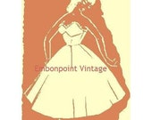 Plus Size (or any size) Vintage 1949 Full Slip Petticoat Sewing Pattern - PDF - Pattern No 84 Pearl