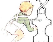 Plus Size (or any size) Vintage 1950s Baby's Overalls Pattern - PDF - Pattern No 203 Alex