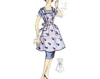 Plus Size (or any size) Vintage 1950s Apron Pattern - PDF - Pattern No 110 Sylvia