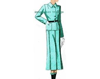 Plus Size Pattern (or any size) Vintage 1934 Skirt Suit - PDF - Pattern No 106 Dona