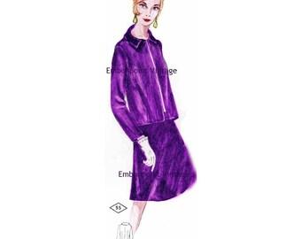 Plus Size (or any size) Vintage 1969 Jacket Pattern - PDF - Pattern No 55a Kari Jacket
