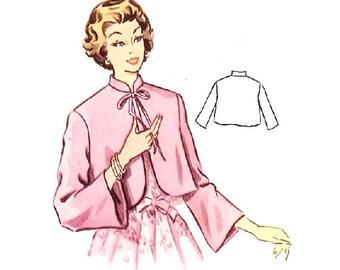 Plus Size (or any size) Vintage 1950s Bed Jacket Pattern - PDF - Pattern No 219 Vanessa