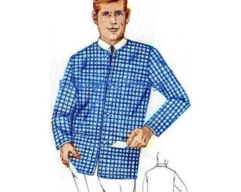 Plus Size (or any size) Vintage 1969 Sports Jacket Pattern - PDF - Pattern No 96 Vincent