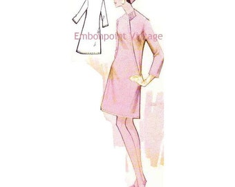 Plus Size (or any size) Vintage 1969 Dress Pattern - PDF - Pattern No 167 Erika
