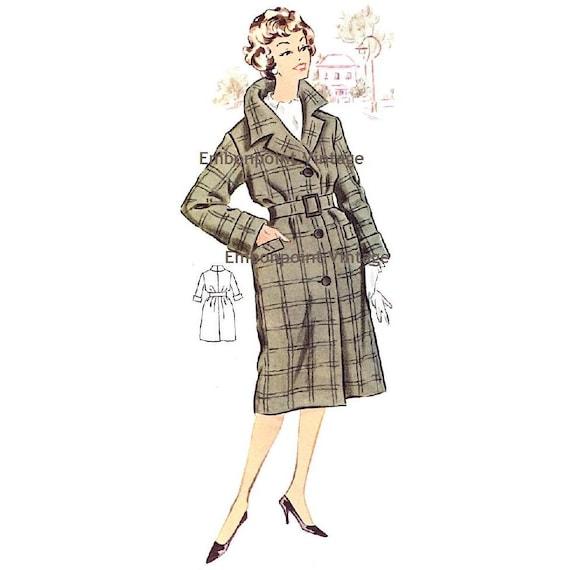 Plus Size (or any size) Vintage 1950s Coat Pattern - PDF - Pattern No 87 Valerie
