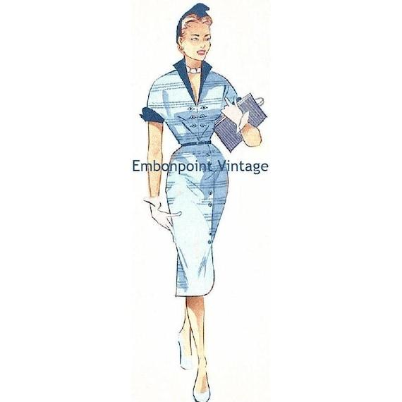 Plus Size (or any size) Vintage 1949 Wrap Dress Sewing Pattern - PDF - Pattern No 95 Rosetta