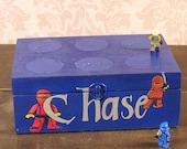 Lego Storage Box, Keepsake Box, Gift for Boys  Personalized, MHB