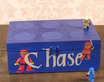 Lego Storage Box, Keepsake Box, Gift for Boys  Personalized, MHB