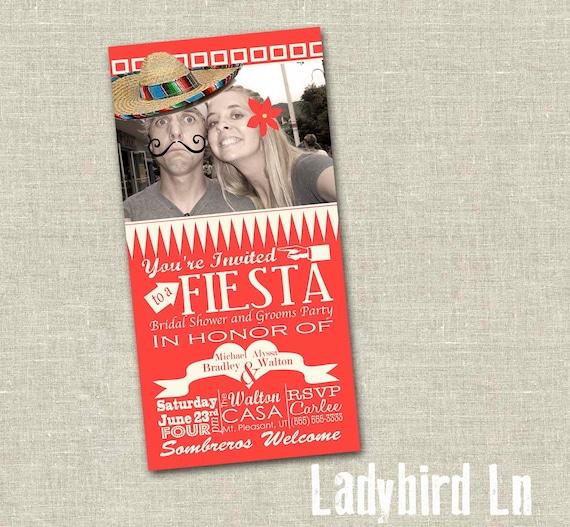 Fiesta Bridal Shower Invitation - Digital PDF - Fun