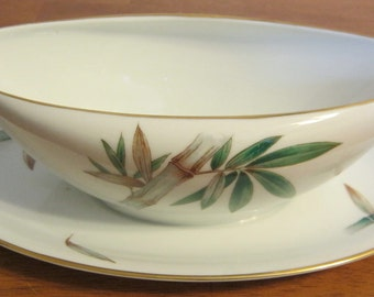 Noritake Canton Gravy Boat with Underplate Bamboo pattern No 5027