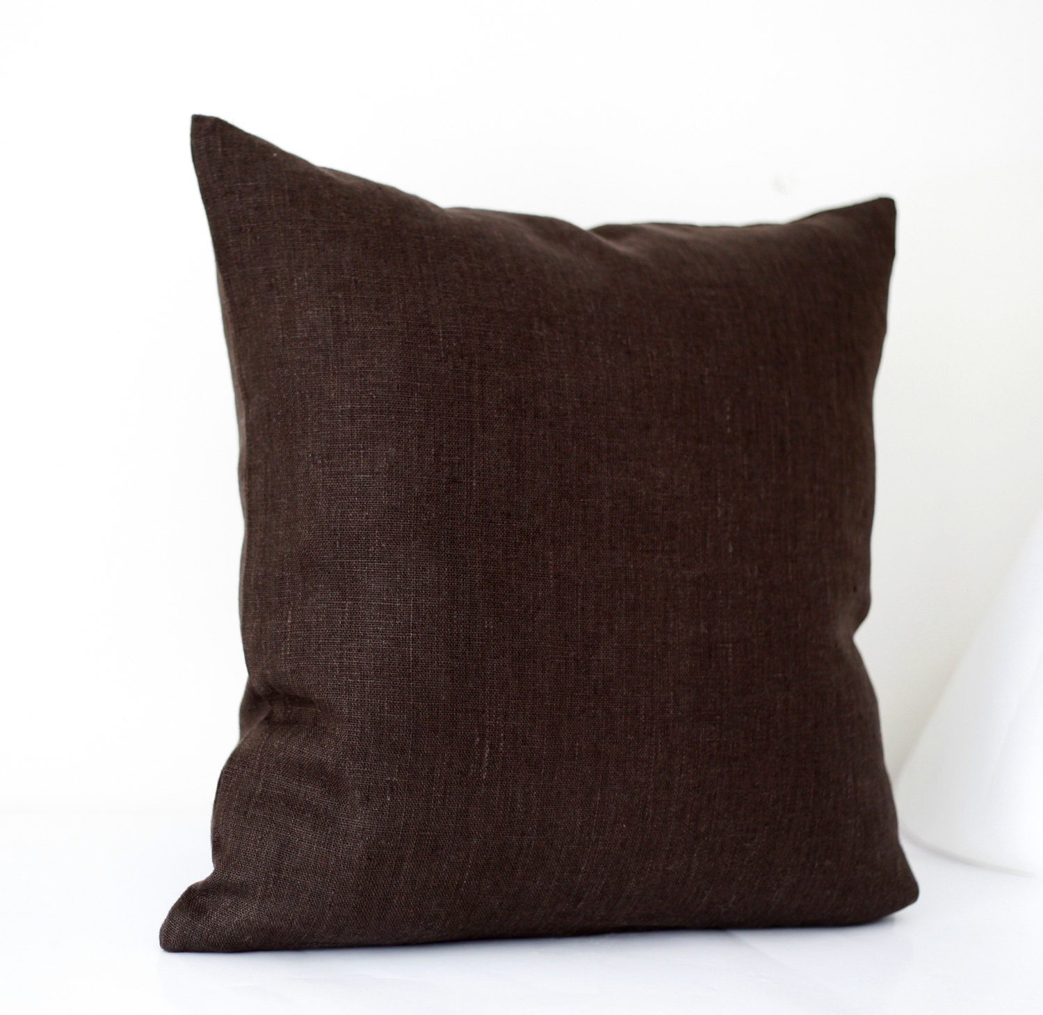 Linen sham chocolate brown throw pillows pillow by pillowlink