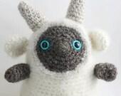 Amigurumi Troll 'Kami', 100% ungefaerbte Biowolle