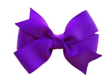 3 inch purple hair bow - purple bow, toddler bow, 3 inch bows, girls hair bows, girls bows, baby bows, pinwheel bows