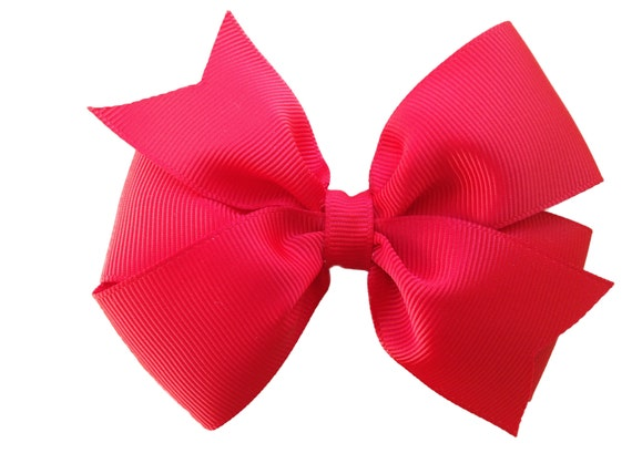 4 inch red hair bow - red bow