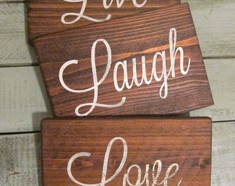 Live, Laugh, Love Rustic Wood Wall Decor