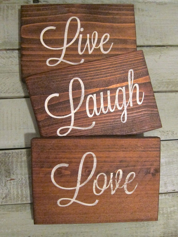 live laugh love rustic wood wall decor. Black Bedroom Furniture Sets. Home Design Ideas