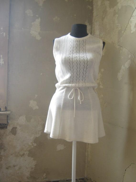 White Knit Tennis Dress