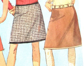Vintage 1966  Hip Hugger Skirt Pattern