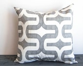 Gray throw pillow cover One gray cushion cover storm gray throw pillow covers
