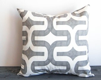 """Gray throw pillow cover 18"""" x 18"""" One gray cushion cover storm gray throw pillow covers"""