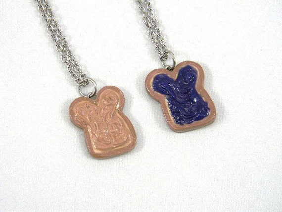 Peanut Butter and Jelly Friendship Necklaces Peanut Butter and Blackberry Jam