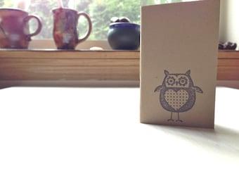 Owl Notebook: Small Journal, Cute, Brown, Kraft, Simple, Kids, Jotter, Mini Journal, Small Notebook, Cute Notebook, Unique, Gift, KR100