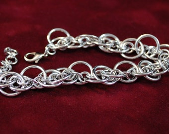 Silver Chained Bracelet