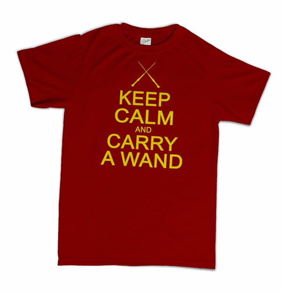 Keep Calm And Carry A Wand T-Shirt Funny Wizard Geek Geekery Novelty Humor Shirt Tshirt Mens Womens S-3Xl Great Gift Idea