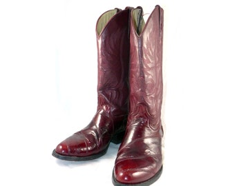 Gorgeous genuine NOPAL vintage eelskin and leather fully welted Cowboy / Cowgirl boots - 10 9.5 / 8.5 7.5 8 M D