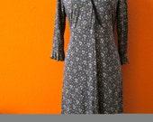 Stylish Vintage 70's Boho Hippie Mod Maternity Casuel Evening Summer Party Dress Size Small Medium to Large