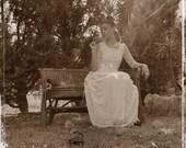 Long 50s Wedding Gown Vintage Wedding Dress Long Sleeves Wedding Dress - Handmade by SuzannaM Designs