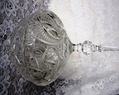 Vintage Cut Glass Crystal Footed Candy Dish Two Piece - RuthsGreenTreasures