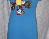 Applique T Shirt Dress, size Medium
