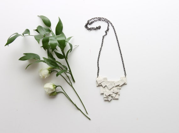 50% off S Q /  leather necklace - Ready to Ship - Christmas Sale