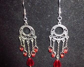 Cupid's Tears - Beaded Chandelier Earrings