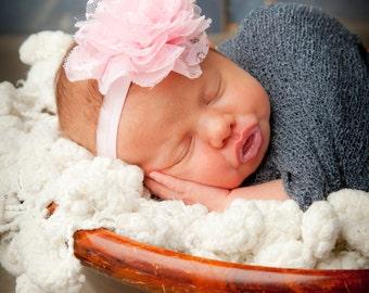 Pink Baby Girl Headband, Baby Girl Head bands, Baby Bows Headband, Newborn Headband, Pink Head band, Baby Newborn Headband, Pink Baby Bow