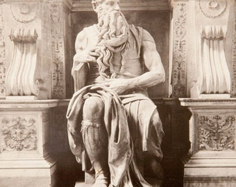 Statue of Moses by Michelangelo - Rare Keystone Stereoview