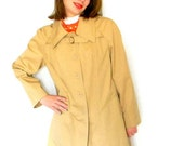 60s Swing Coat. Beige Top Coat. Trapeze. Mad Men Fashion. Cream Rain Coat. Summer coat. Fall fashion. Cotton