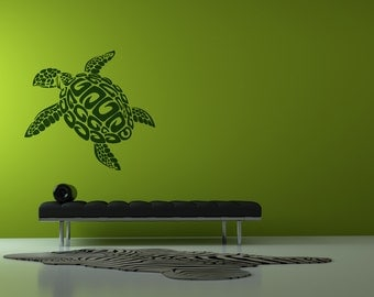 Turtle Wall Art swimming turtle | etsy