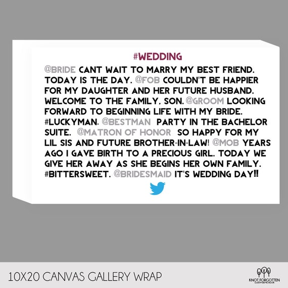 Items Similar To Custom Wedding Twitter Hashtag Feed